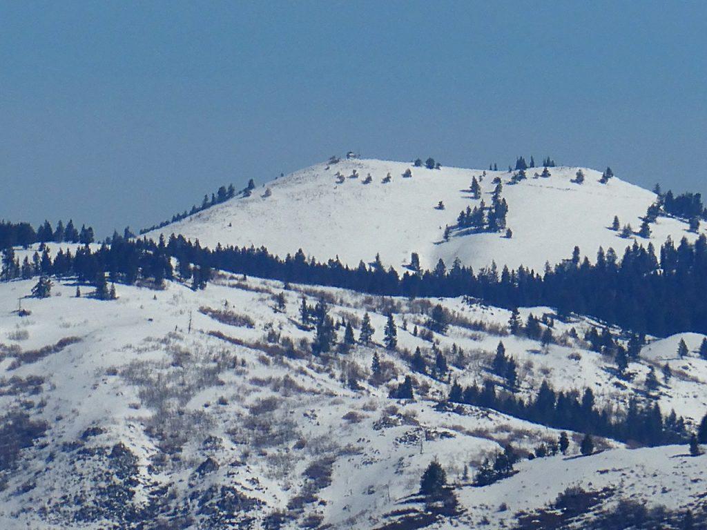 Thorn Creek Butte viewed from Deep Peak in April 2020.