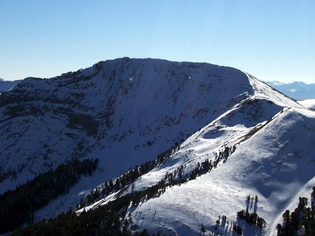 Dianes Peak. The view is south from 'Tendolia Peak' 10201' in Montana, 11/6/07. Rick Bayugher Photo