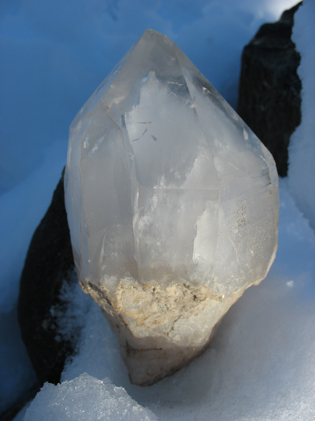 . . . our quartz crystal on ice.
