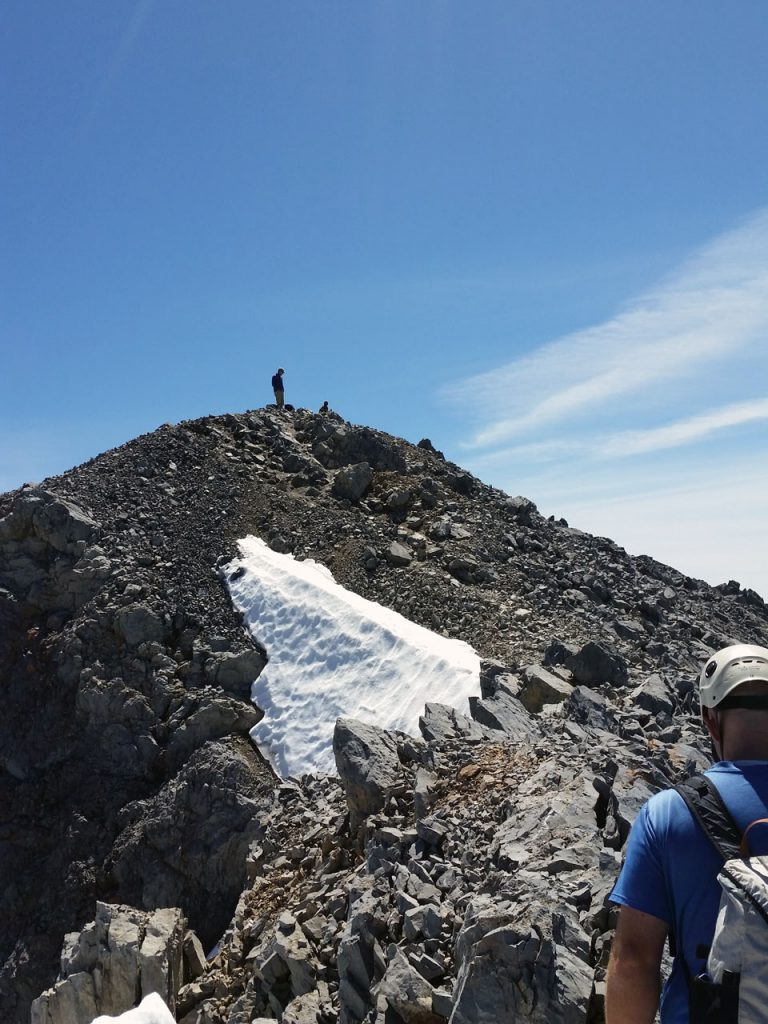 """""""Hey! Where'd you guys come from? You know there's an easier way up here. You guys are nuts!"""" Overheard from the summit. Thierry Legrain Photo"""
