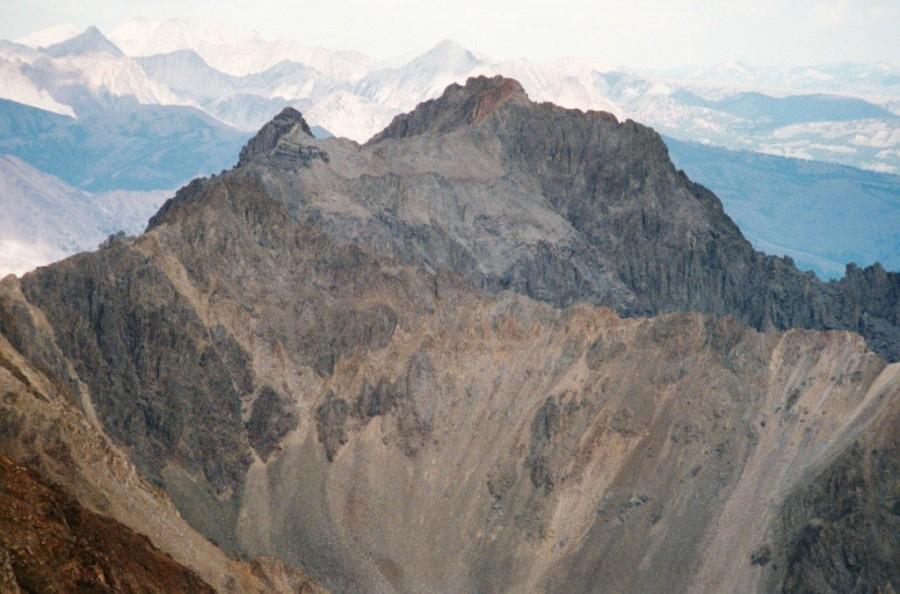 Peak 11458 from Glassford Peak.