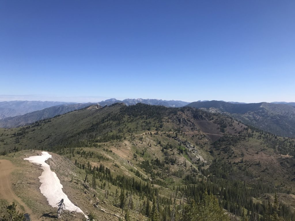 Peak 9101 from Middle Fork Peak.