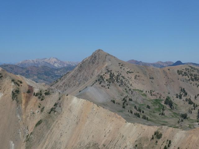 Trail End Peak viewed from Hemingway Peak.