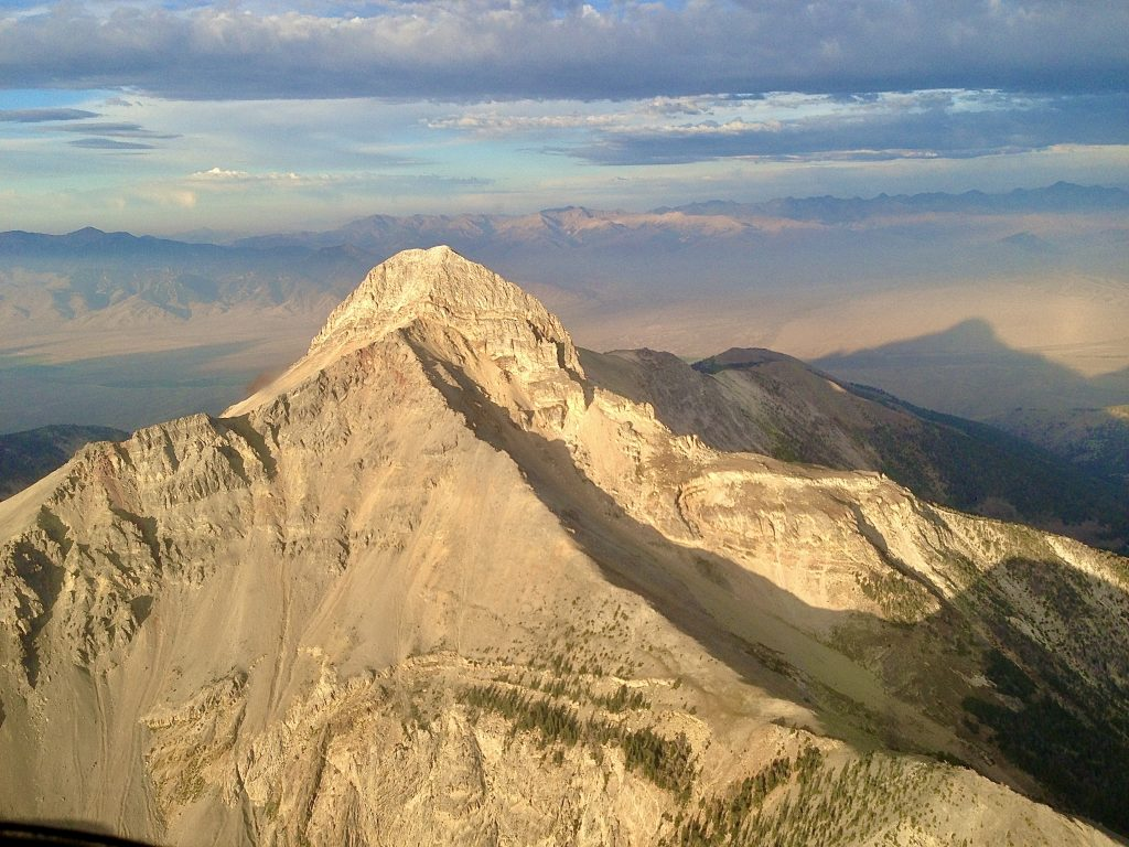 An arial view of spectacular Bell Mountain. Mike Hart Photo