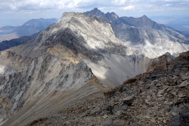 Looking back to Mt. Idaho and Borah from the North summit of 11,967.