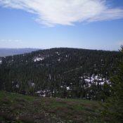 View of Peak 7637 from the summit of Peak 7693. Livingston Douglas Photo
