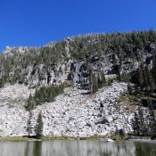 The west face of Peak 8540 (Fitsum Buckthorn Divide) viewed from Lake 7195. John Platt Photo