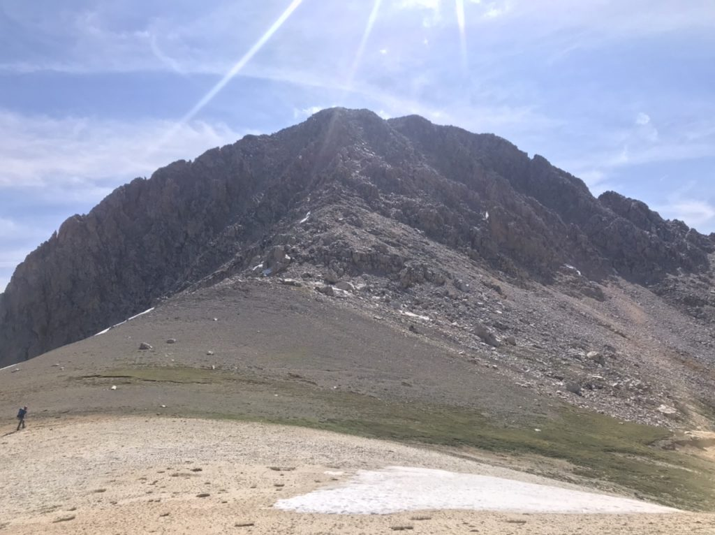 The West Face viewed from the above the step at 10,800 feet.