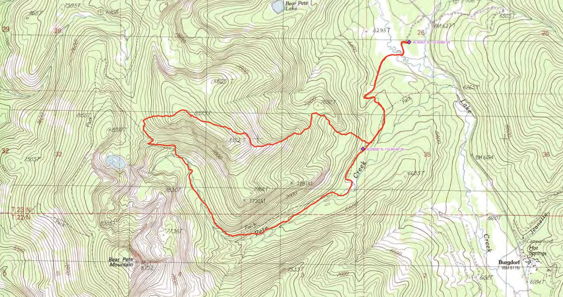 John Platt's GPS track. His route covered 7.8 miles with 2,376 feet of elevation gain.