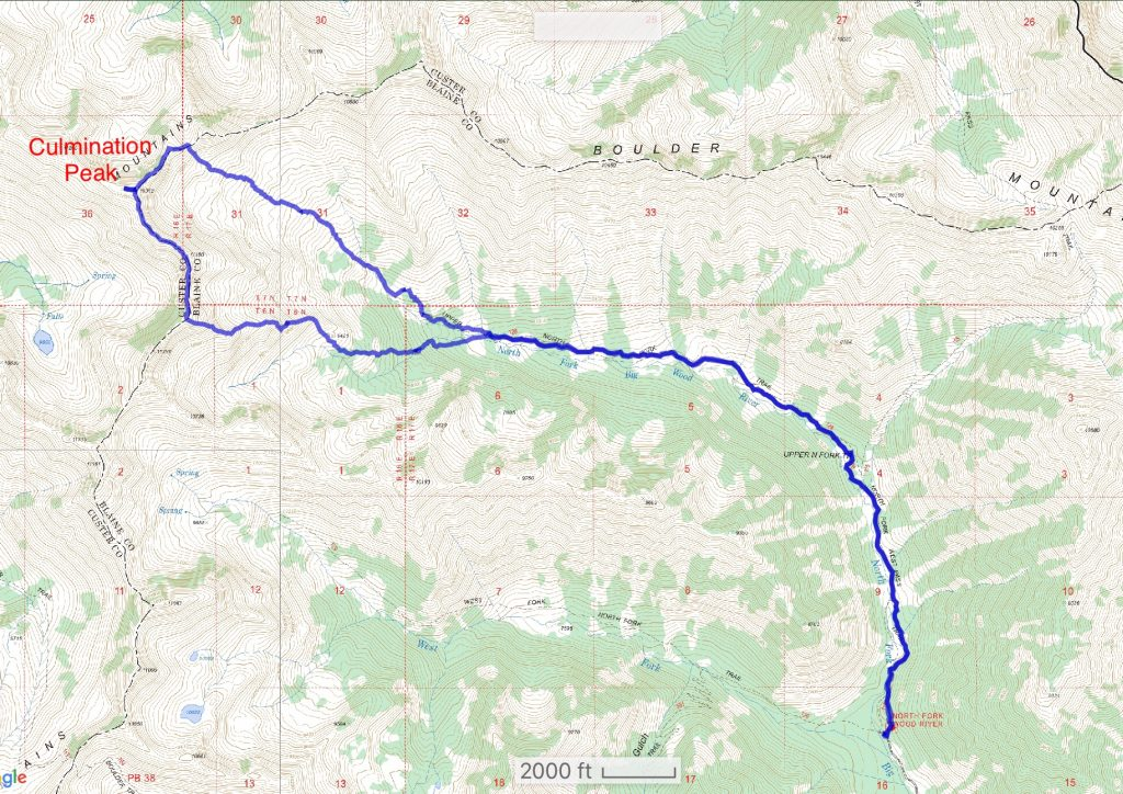 Brett Sergenian's GPS track for his traverse.