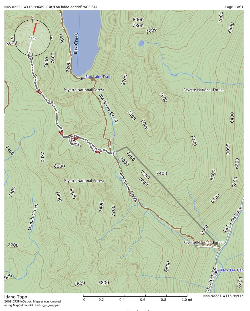 John Platt's GPS track. This route covered 7.5 miles with 2,700 feet of gain round trip.