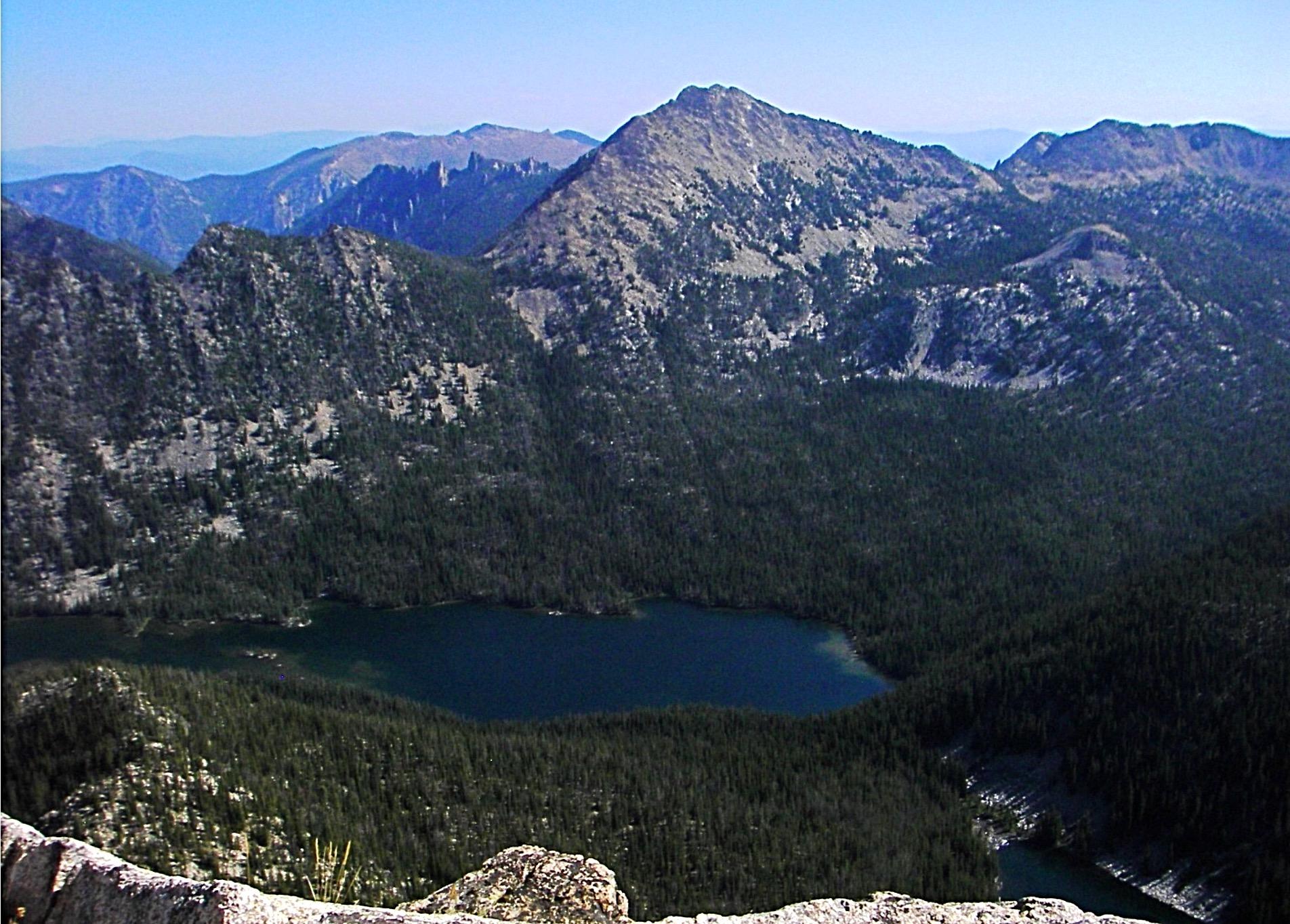 Mt. McGuire from Aggipah Mountain with the WSW ridge in view and the SE ridge in profile. Judi Steciak Photo