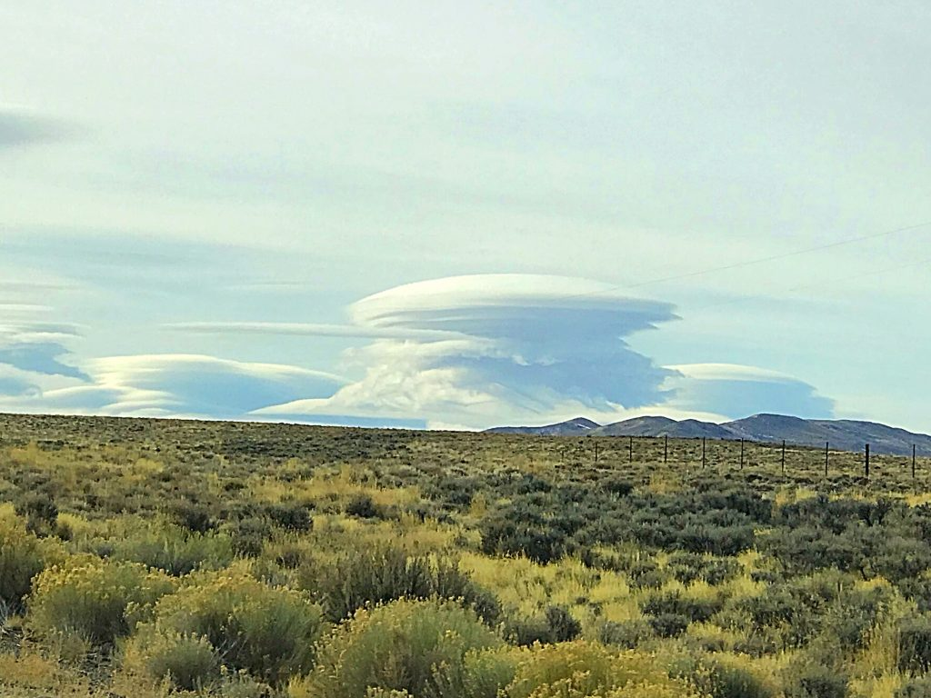 Fantastic clouds over Wells, Nevada