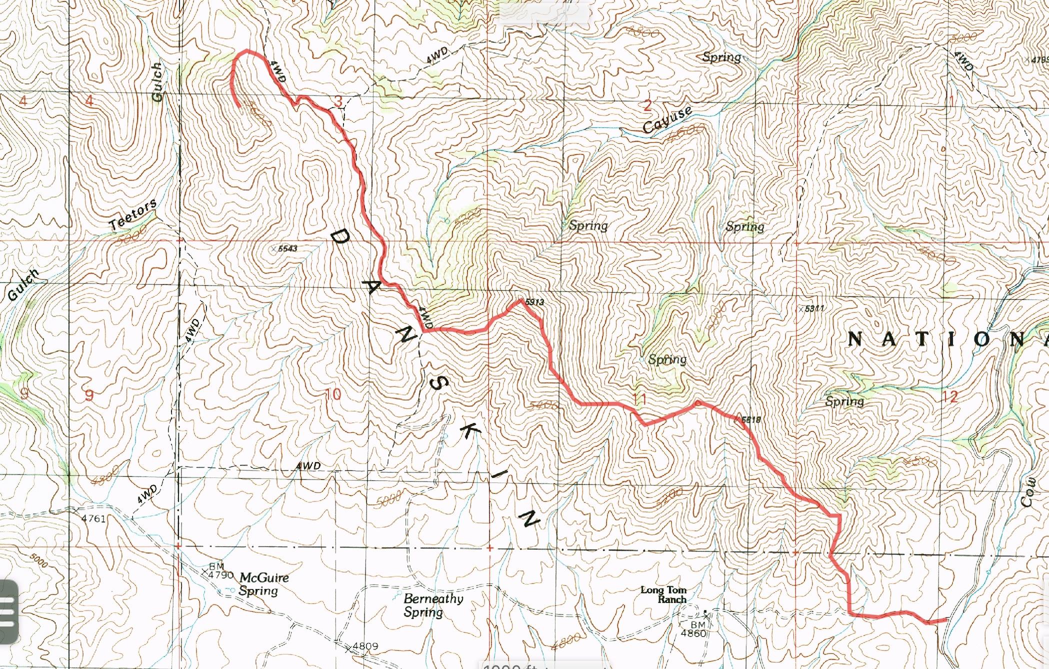 East Ridge GPS track.