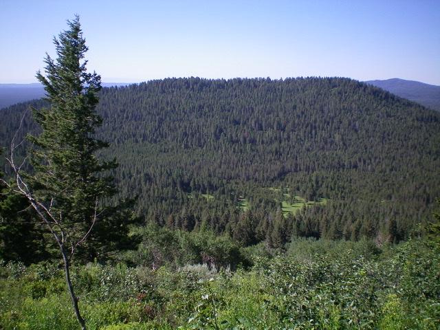 Moonshine Mountain as viewed from Thurmon Ridge to the north. Livingston Douglas Photo