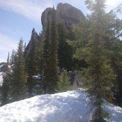 The summit block of Peak 7660. Brett Sergenian Photo