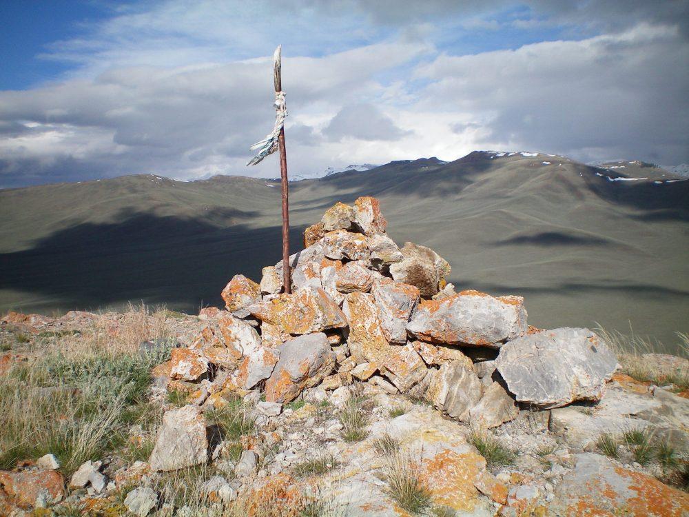 The summit cairn atop Swensen Butte, looking northwest. Livingston Douglas Photo