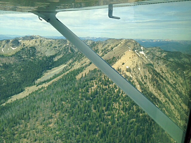 Our pilot circled around Mormon Mountain, here it is in front of us. Karen Jones Photo