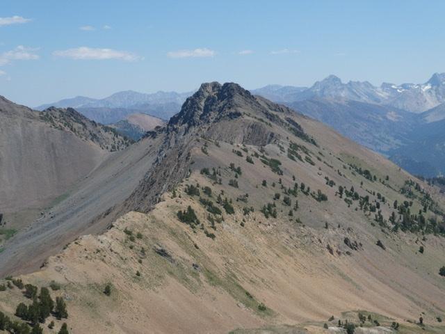Peak 10598 viewed from Hemingway Peak.