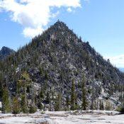 "Fitsum Peak from the west. Note John Platt calls this peak ""The Spear."" John Platt Photo"