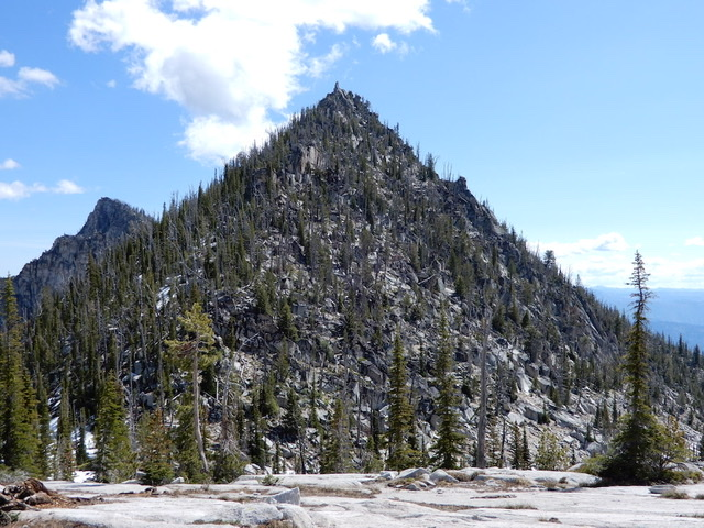 "Fitsum Peak from the west. Note John Platt calls this peak ""The Spear."" John Platt Photo"