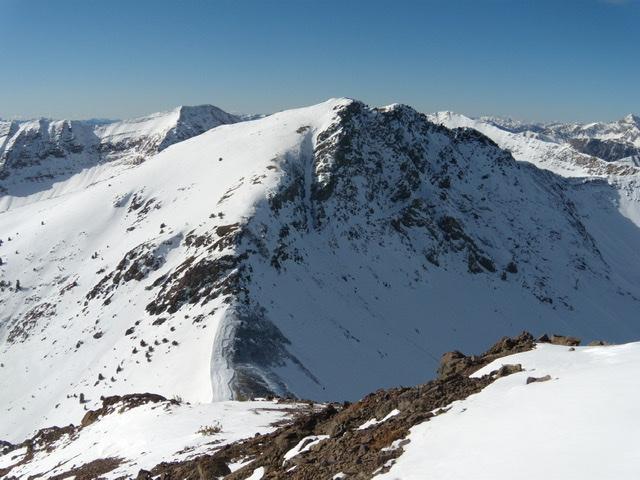 Peak 10598 viewed from Peak 10566. John Platt Photo