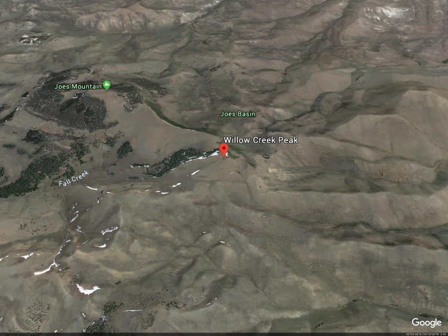 Joes Mountain. Google Earth Image
