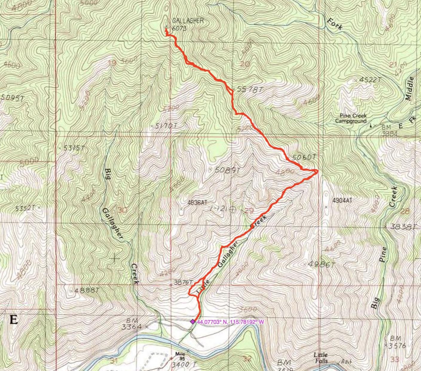 John's GPS track.