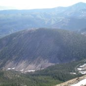 Forested Peak 9319 as viewed from the summit of Peak 10263. Livingston Douglas Photo