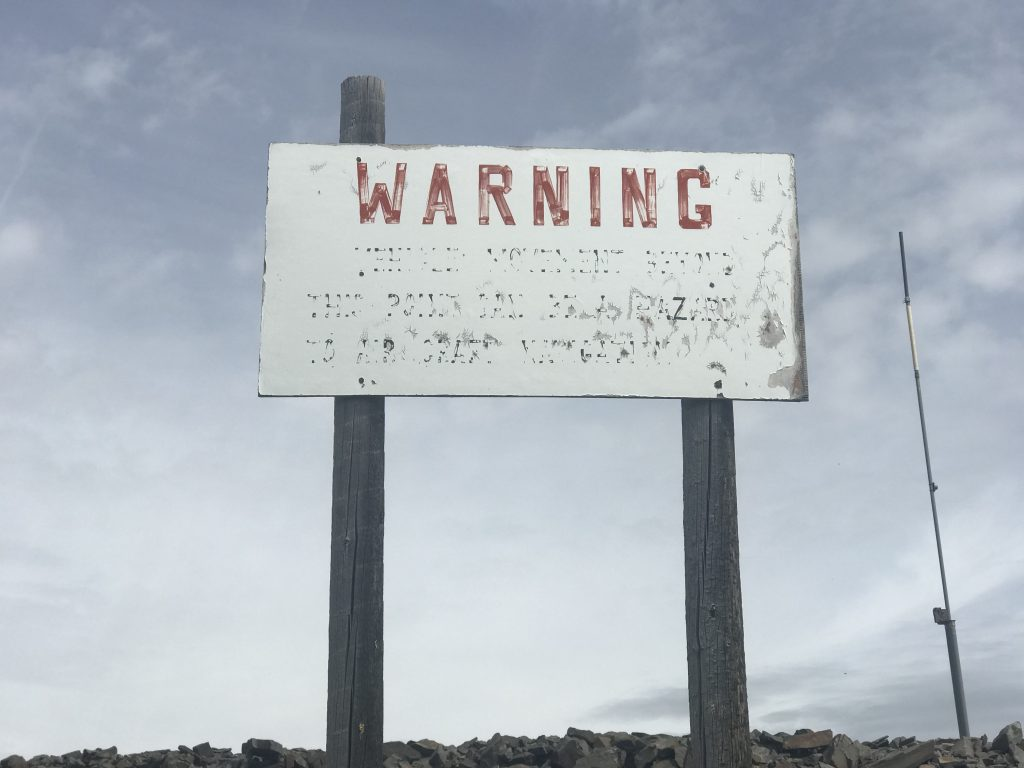 This is the sign located just below the summit.