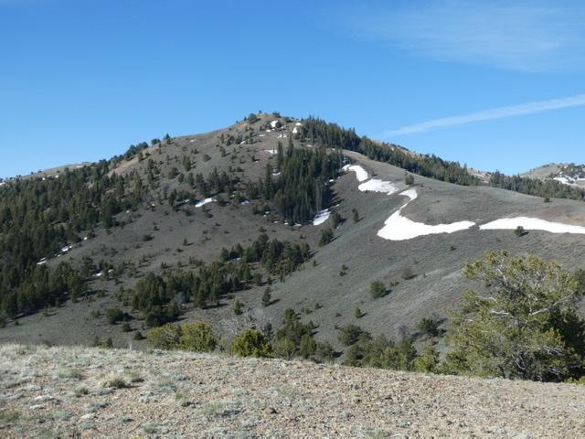 Peak 9248 viewed from the northeast.