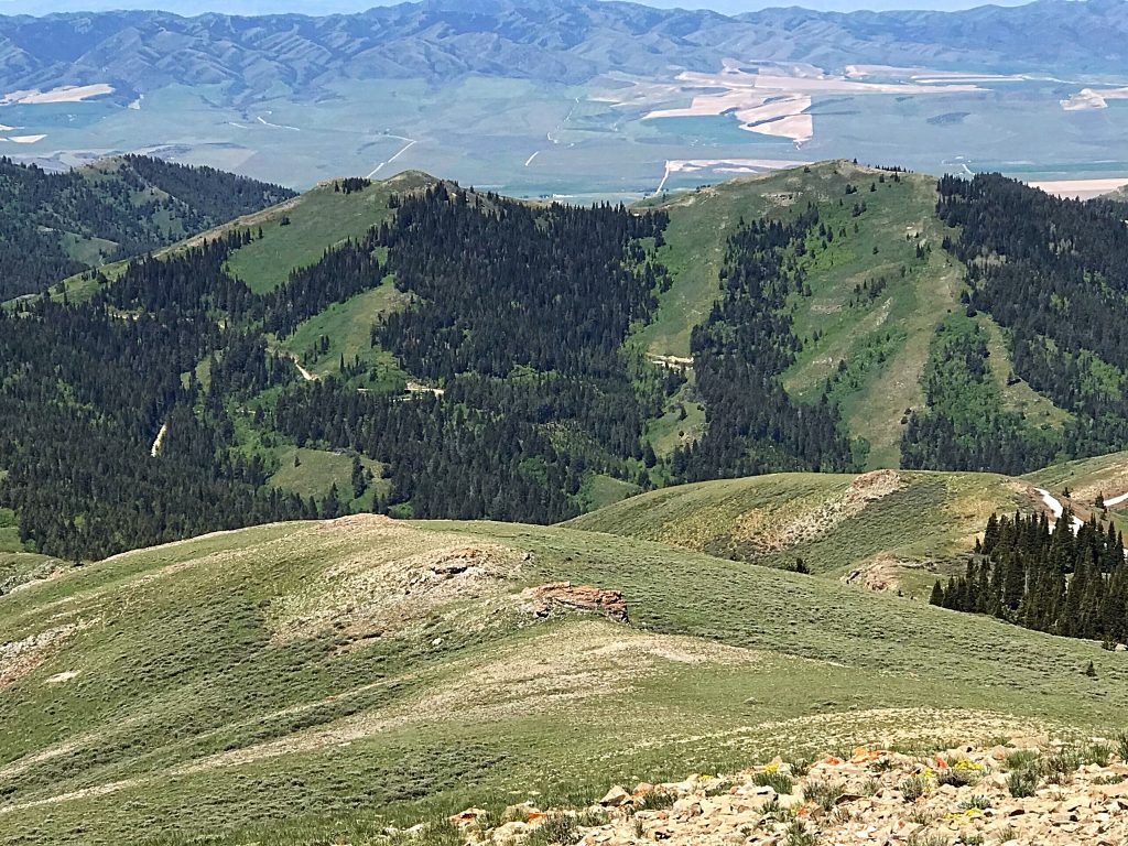 Peak 7814 has a twin summit just to its north which is 7,804 feet high.