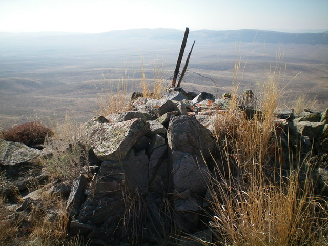 The summit cairn atop Sugarloaf Mountain. Livingston Douglas Photo