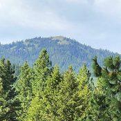 Thorn Creek Butte viewed from Hoodoo Peak.
