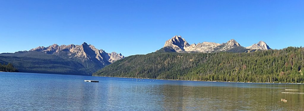 The view from Redfish Lake.