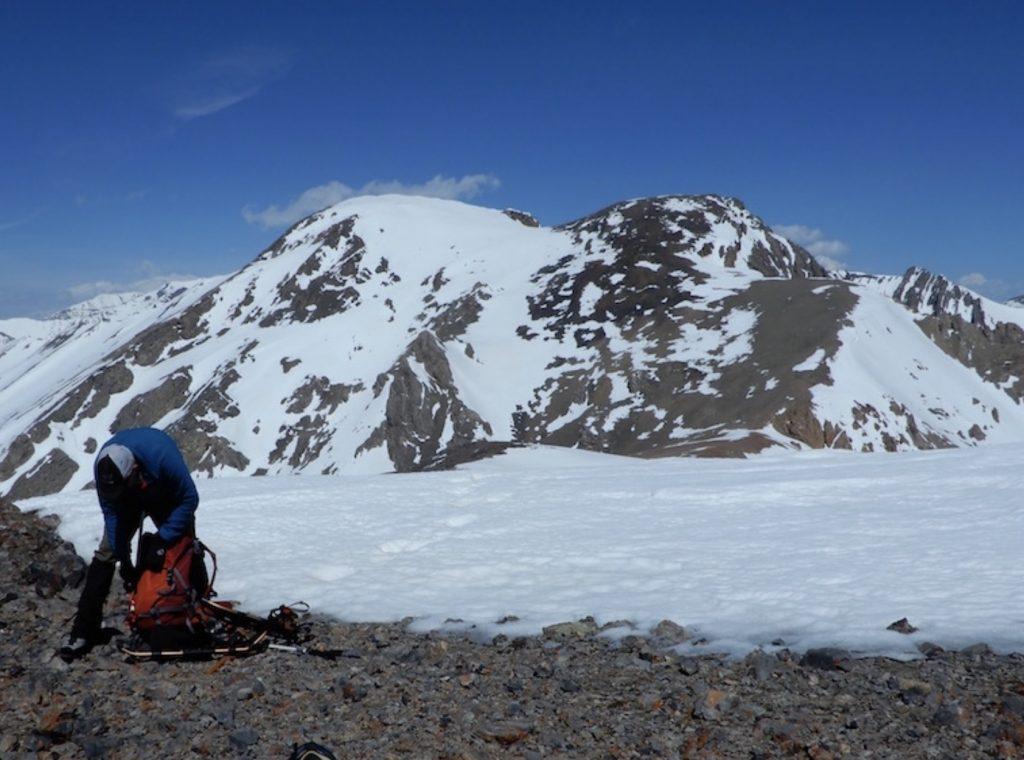 Sheephead Mountain viewed from the Sheephead/Invisible saddle. John Platt Photo