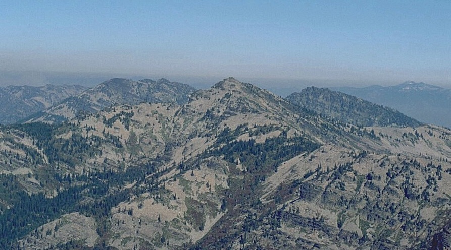 The Cabinet Crest from Scotchman Peak, looking toward Scotchman No. 2.