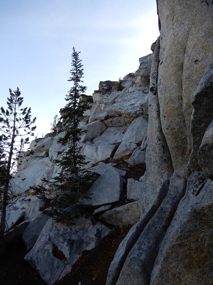 This Class 4 wall was the final obstacle on the West Ridge Route. John Platt Photo