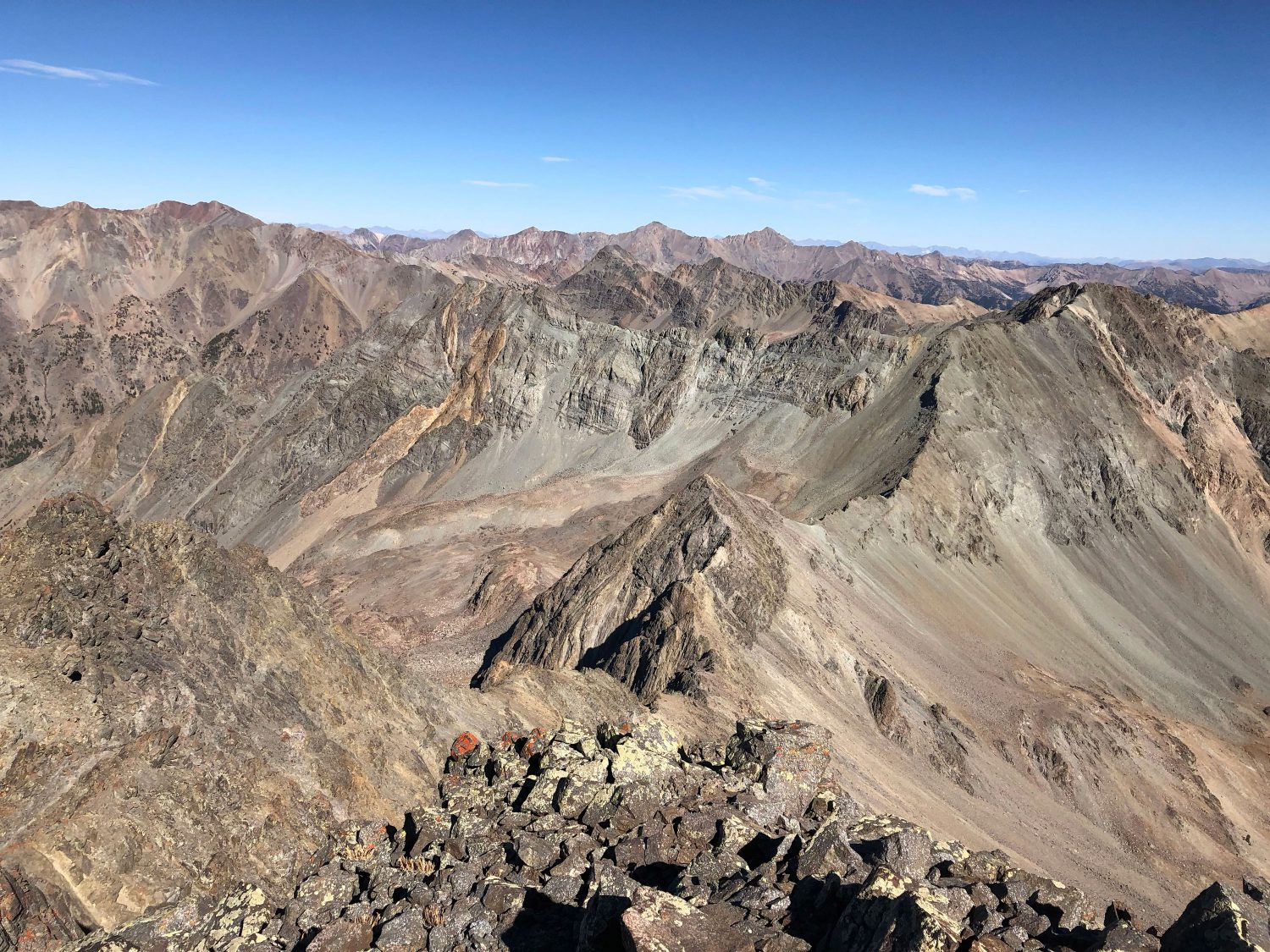 From Lorenzo summit, looking back at Silver (on the right). Derek Percoski Photo