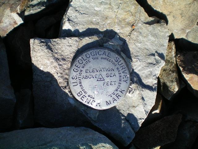 The USGS benchmark atop Bear Benchmark. Livingston Douglas