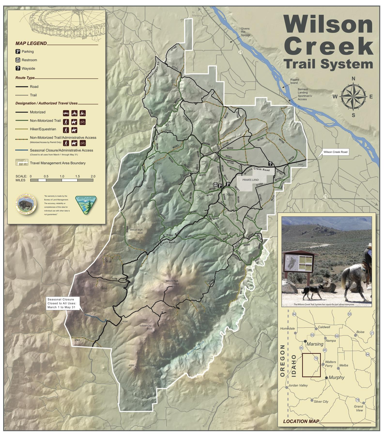 BLM Wilson Creek Trail System.