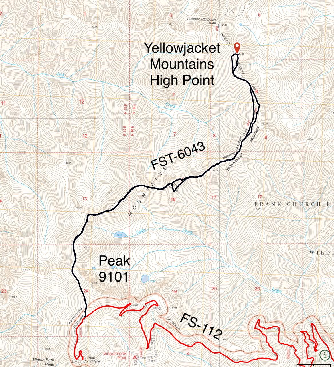 Terri's GPS track.