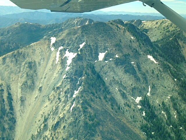 Mormon Mountain fron the air. Karen Jones Photo