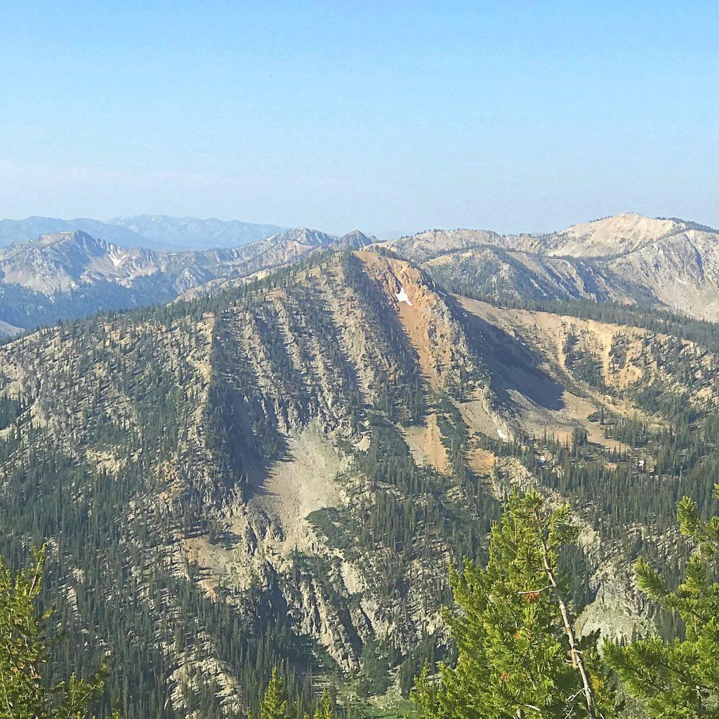 Dixie Mountain viewed from the summit of Mount Eldridge.