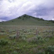 Button Butte as viewed from Cottonwood Creek Road to the east. Livingston Douglas Photo