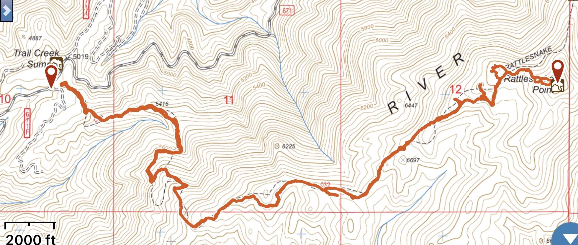 Brett's GPS Track.