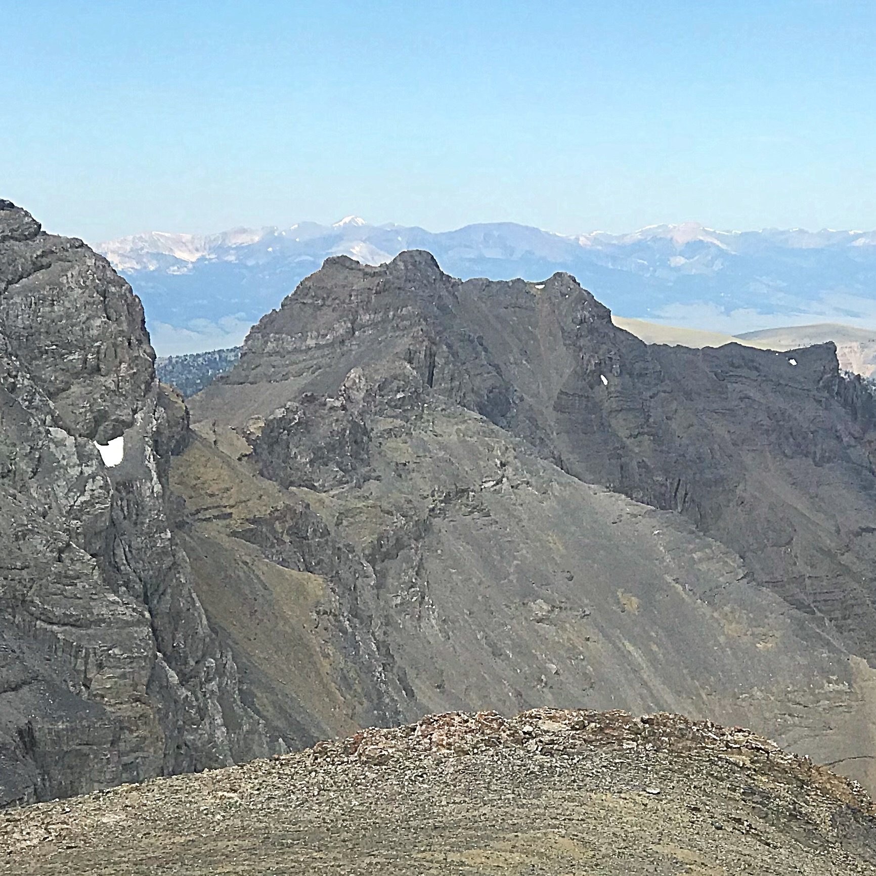 Italian Peak from the Scott Peak/Huhs Horn saddle.