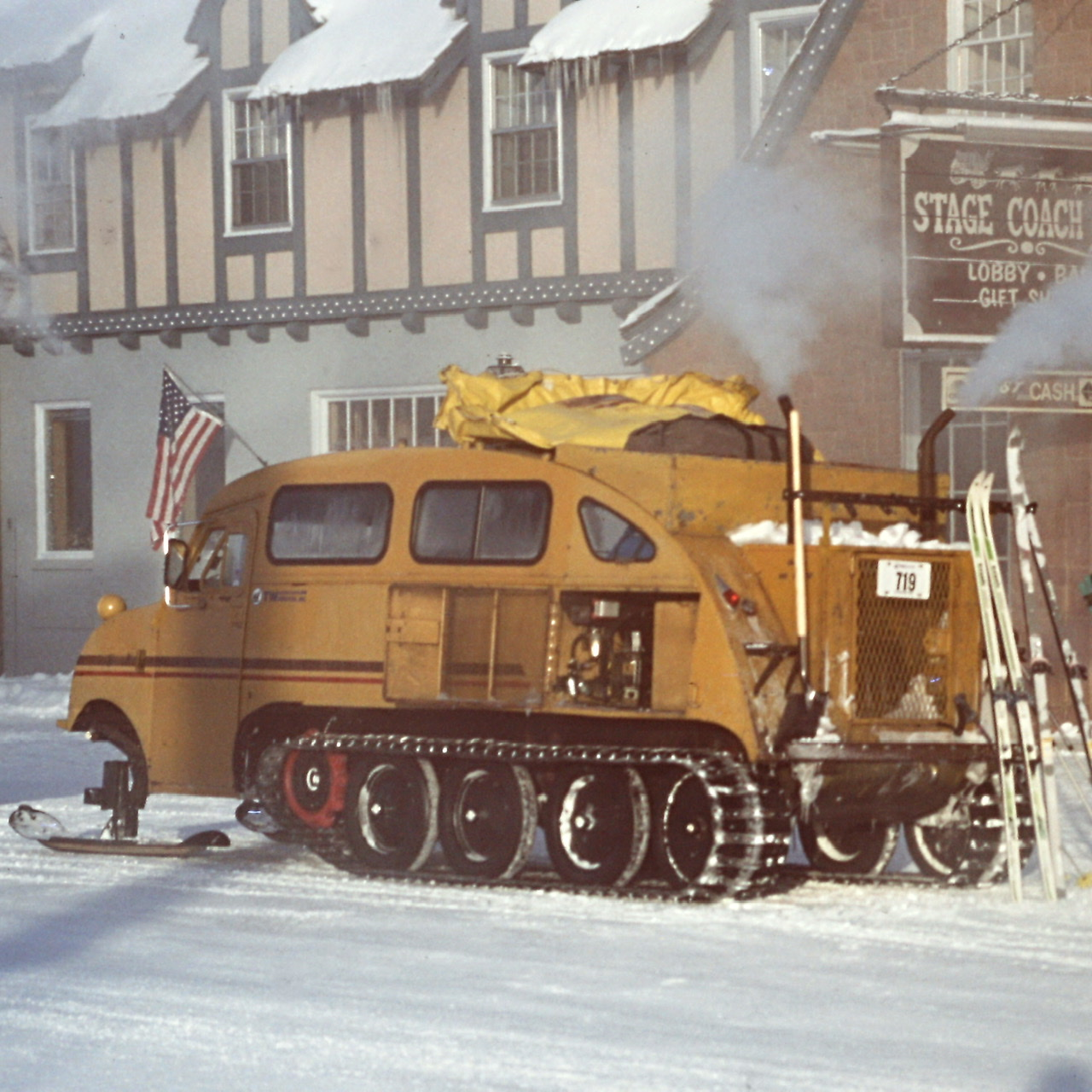 The Snow Coach loading at West Yellowstone.