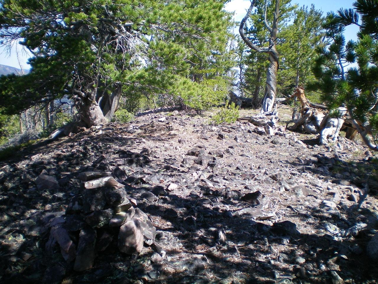 The summit area of Peak 9319. Livingston Douglas Photo