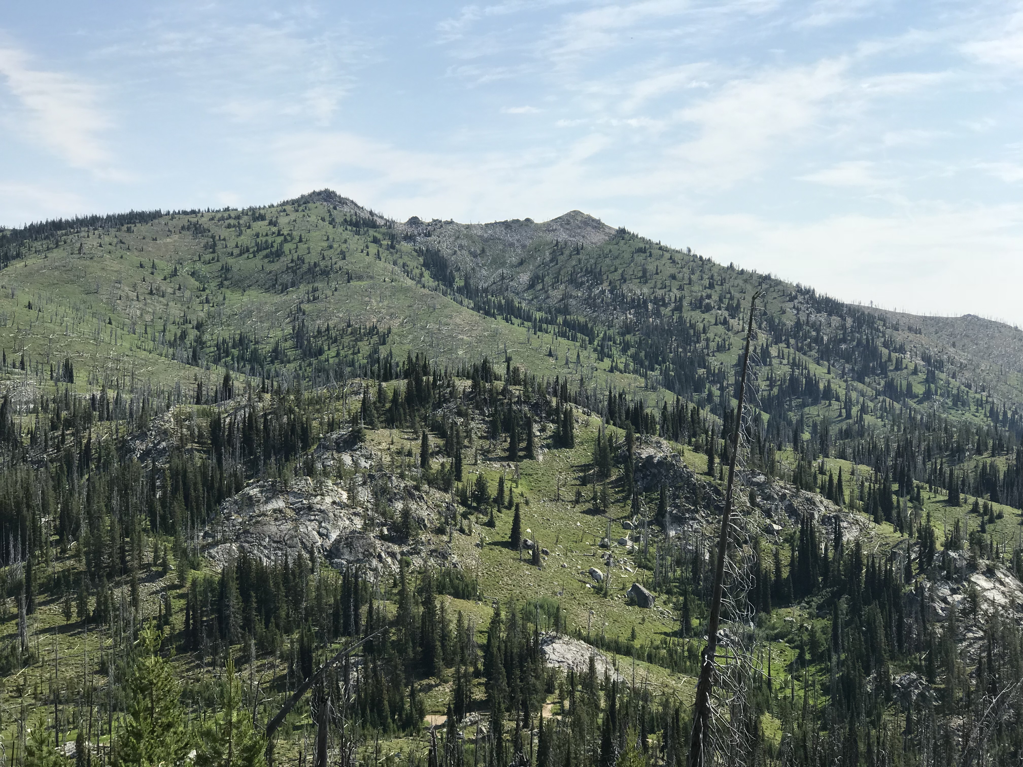 The south side of Squaw Point viewed from Peak 7365.